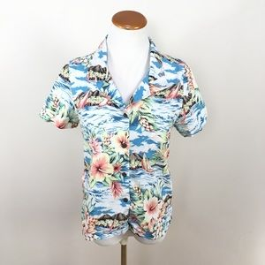 Reyn Spooner Joe Kealoha Hawaiian Button Down Top